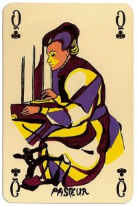 Queen of clubs Correspondances deck designed by Callazzo