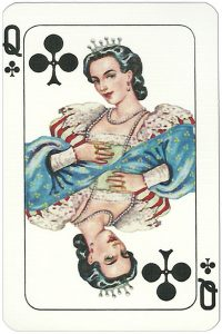 Queen of clubs Espanola Grandes playing card