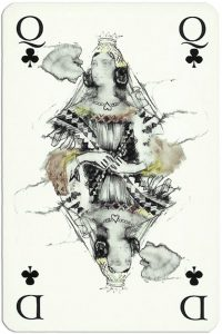 Queen of clubs Gaultier Cartes de jeu