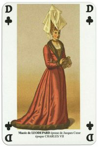 Queen of clubs Jeu des Armures carte