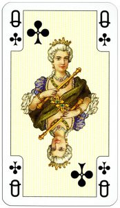 Queen of clubs Lady Bridge cards