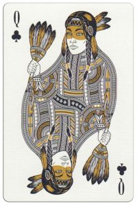 Queen of clubs Malam Deluxe USA playing cards