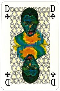 Queen of clubs Nikolaus Moser deck Editions Hilger