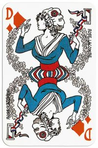 Queen of diamonds Bicentenaire de la Revulution Francaise cartes de jeu