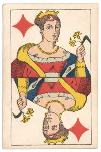 Queen of diamonds Franfortoises deck Speelkaarten Fabriek Nederland