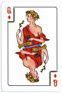 Queen of diamonds Greek mythology playing cards