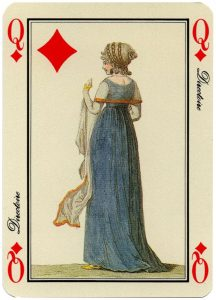Queen of diamonds Jeu des Modes cartes a jouer Grimaud