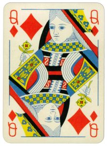 Queen of diamonds Praha Poker cards from early XX c