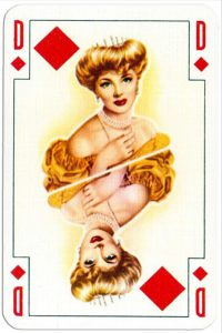 Queen of diamonds Renovation playing cards designed by Jean Hoffmann