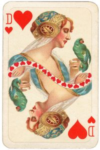 Queen of hearts Allerfeinste Schubert Whist beautiful playing cards
