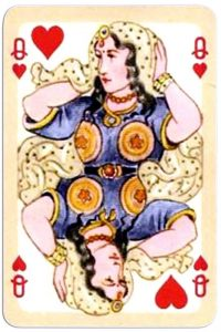 #PlayingCardsTop1000 – Queen of hearts Bernhard Altmann Cashmere advertising cards