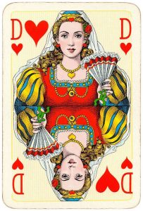 Queen of hearts Bridge Export classic playing cards by Handa