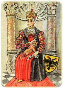 Queen of hearts Charta Bellica Hungarian cards