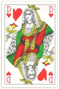 #PlayingCardsTop1000 – Queen of hearts Classic Belgian cards