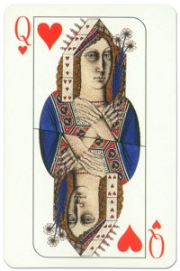 Queen of hearts Cosmopolitan playing cards deck
