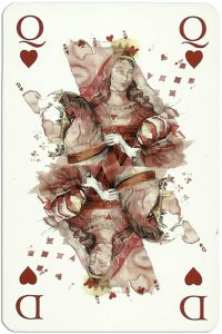 #PlayingCardsTop1000 – Queen of hearts Gaultier Cartes de jeu