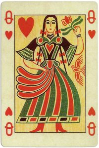 Queen of hearts Ibusz beautiful folklore cards