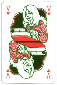 Queen of hearts Keser playing cards for every profession secretary