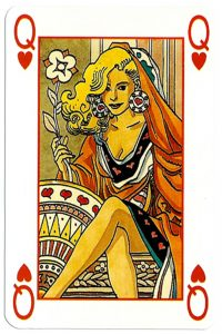 #PlayingCardsTop1000 – Queen of hearts Martin Mystere deck