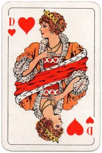 #PlayingCardsTop1000 – Queen of hearts Swedish Poker cards