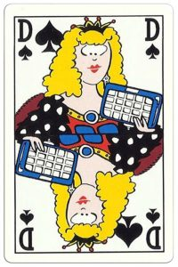 #PlayingCardsTop1000 – Queen of spades Breese Auto Shop advertising cards