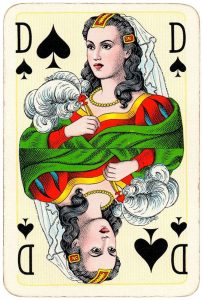 Queen of spades Bridge Export classic playing cards by Handa