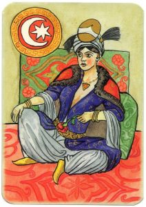 Queen of spades Charta Bellica Hungarian cards