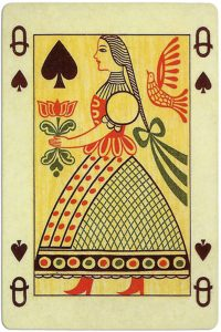 Queen of spades Ibusz beautiful folklore cards