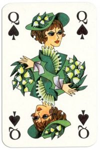 Queen of spades Patience Gracia by artist Hannelore Heise