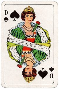 #PlayingCardsTop1000 – Queen of spades Swedish Poker cards