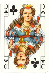 Rhineland pattern Standard Bild Queen of clubs