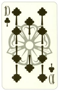 Wars of roses playing card 10 of clubs