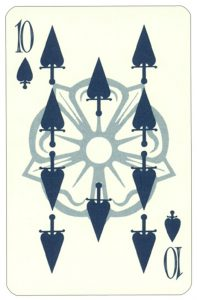 Wars of roses playing card 10 of spades