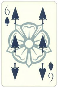 Wars of roses playing card 6 of spades