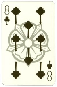 Wars of roses playing card 8 of clubs