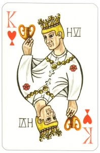 #PlayingCardsTop1000 – Wars of roses playing card King of hearts