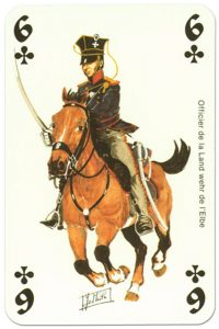 cavalry 6 of clubs Waterloo battle playing cards