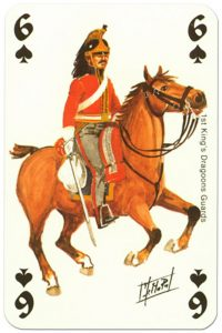 #PlayingCardsTop1000 – cavalry 6 of spades Waterloo battle playing cards