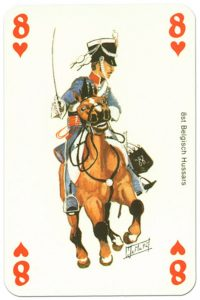 cavalry 8 of hearts Waterloo battle playing cards