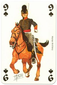 cavalry 9 of spades Waterloo battle playing cards