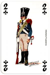 infantry 2 of clubs Deck Waterloo battle
