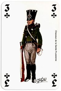 infantry 3 of clubs Deck Waterloo battle