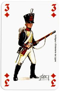 #PlayingCardsTop1000 – infantry 3 of diamonds Deck Waterloo battle