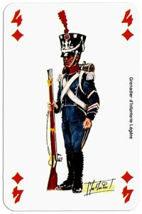 infantry 4 of diamonds Deck Waterloo battle
