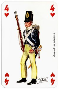 #PlayingCardsTop1000 – infantry 4 of hearts Deck Waterloo battle