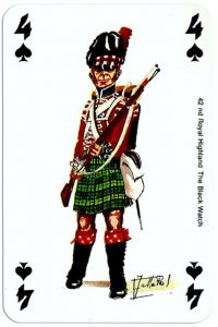 #PlayingCardsTop1000 – infantry 4 of spades Deck Waterloo battle