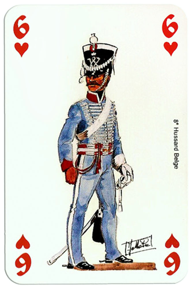 infantry 6 of hearts Deck Waterloo battle