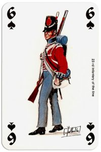 #PlayingCardsTop1000 – infantry 6 of spades Deck Waterloo battle