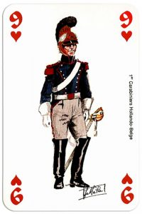 infantry 9 of hearts Deck Waterloo battle