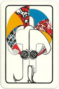 joker Modernist artistic style cards from Russia